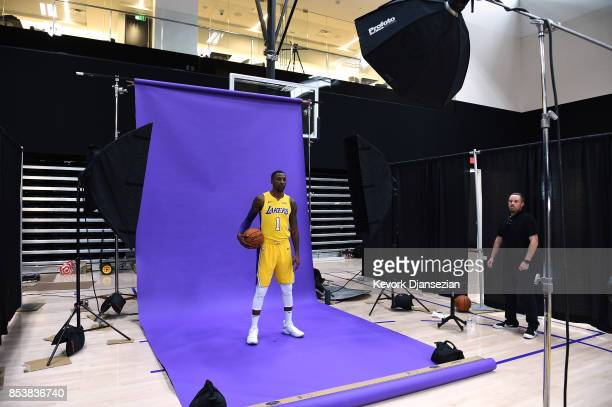 Kentavious Caldwell Pope Los Angeles Lakers poses during Los Angeles Lakers Media Day September 25 in El Segundo California NOTE TO USER User...