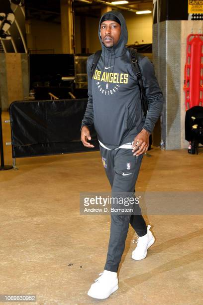 Kentavious CaldwellPope of the Los Angeles Lakers arrives to the game against the San Antonio Spurs on December 7 2018 at ATT Center in San Antonio...