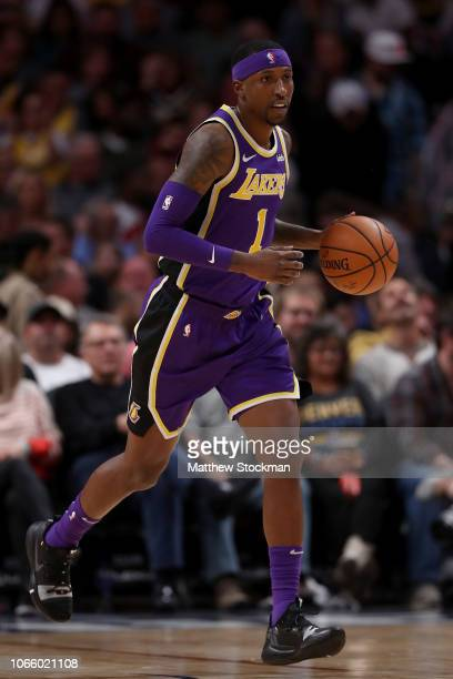 Kentavious CaldwellPope of the Los Angeles Lakers plays the Denver Nuggets at the Pepsi Center on November 27 2018 in Denver Colorado NOTE TO USER...
