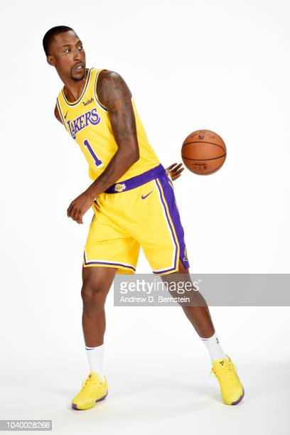 Kentavious CaldwellPope of the Los Angeles Lakers poses for a portrait during media day at UCLA Health Training Center on September 24 2018 in El...