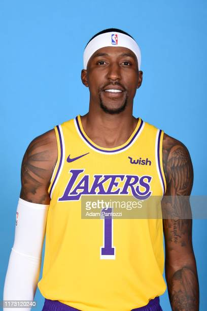 Kentavious CaldwellPope of the Los Angeles Lakers poses for a head shot during media day on September 27 2019 at the UCLA Health Training Center in...