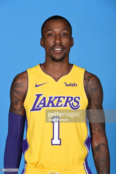 Kentavious CaldwellPope of the Los Angeles Lakers poses for a head shot during media day at UCLA Health Training Center on September 25 2017 in El...