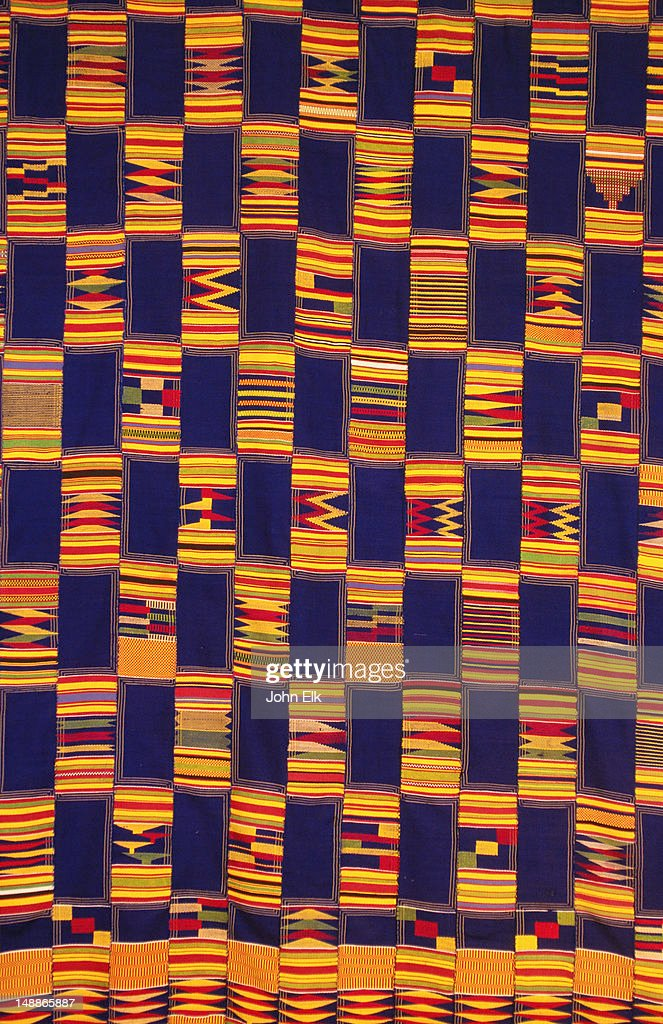 Kente cloth detail. : Stock Photo