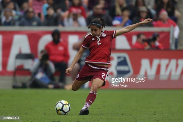 Kenti Robles during the match between Mexico and United States at BBVA Compass Stadium on April 8 2018 in Houston Texas