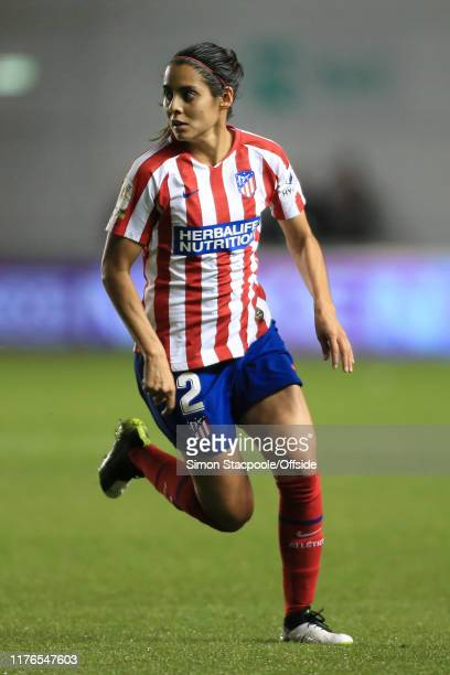 Kenti Robles of Atletico in action during the UEFA Women's Champions League Round of 16 First Leg match between Manchester City Women and Atletico...