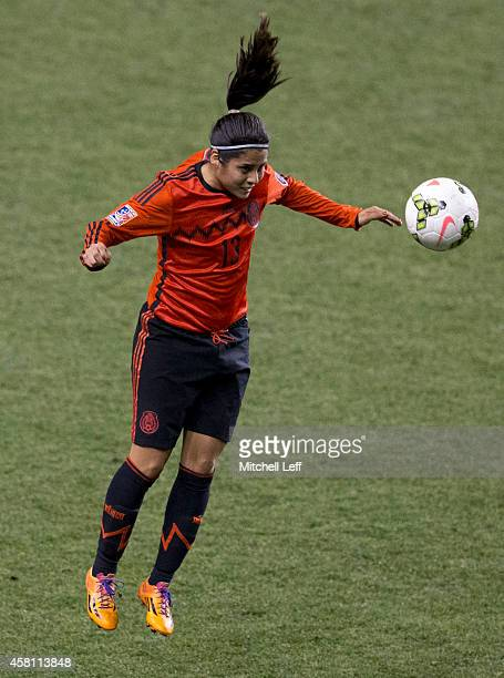 Kenti Robles of Mexico plays in the game against the United States in the 2014 CONCACAF Women's Championship semifinal game on October 24 2014 at PPL...