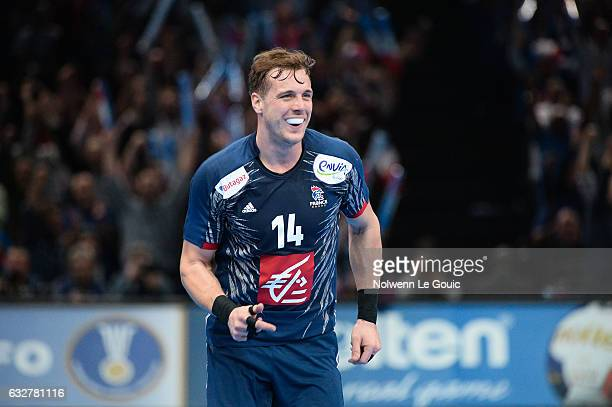 Kentin Mahe of France celebrates during the World Championship Semi Final match between France and Slovenia at AccorHotels Arena on January 26 2017...