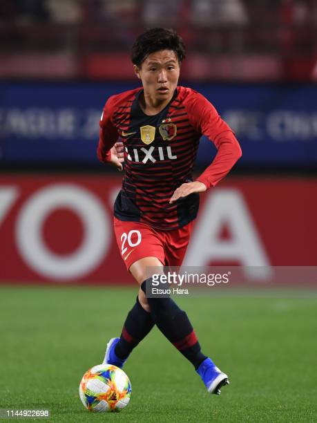 Kento Misao of Kashima Antlers in action during the AFC Champions League Group E match between Kashima Antlers and Gyeongnam at Kashima Antlers...