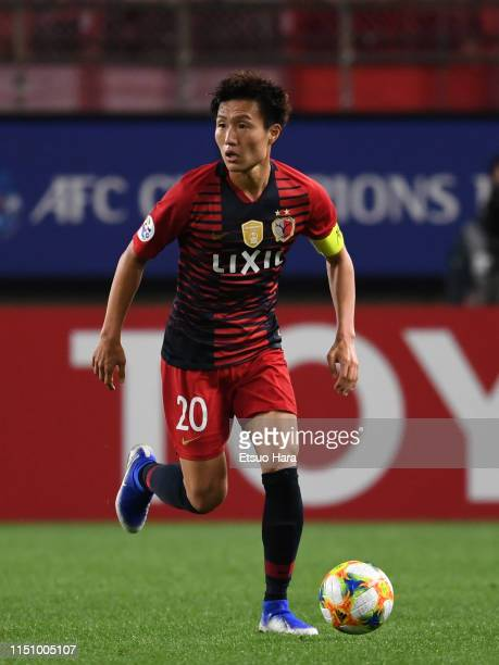 Kento Misao of Kashima Antlers in action during the AFC Champions League Group E match between Kashima Antlers and Shandong Luneng at Kashima Soccer...
