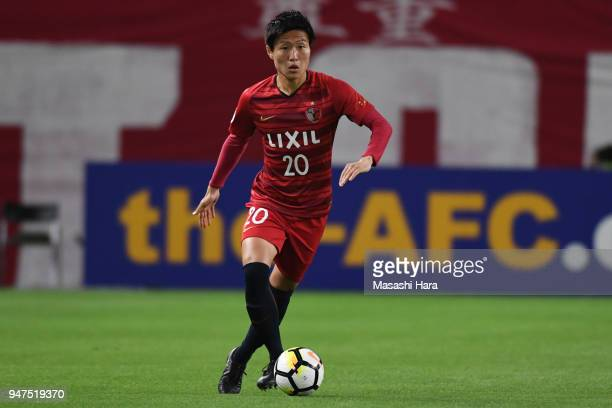 Kento Misao of Kashima Antlers in action during the AFC Champions League Group H match between Kashima Antlers and Suwon Samsung Bluewings at Kashima...