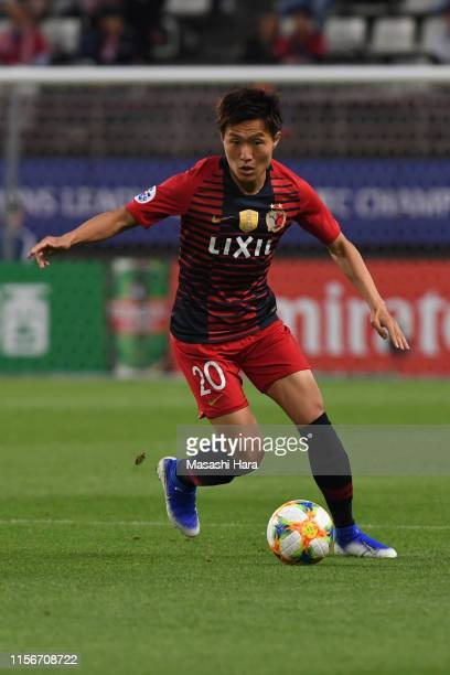 Kento Misao of Kashima Antlers in action during the AFC Champions League round of 16 first leg match between Kashima Antlers and Sanfrecce Hiroshima...