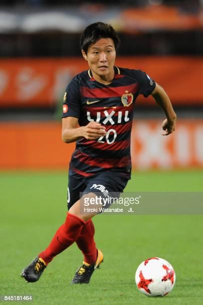 Kento Misao of Kashima Antlers in action during the J.League J1 match between Kashima Antlers and Omiya Ardija at Kashima Soccer Stadium on September...