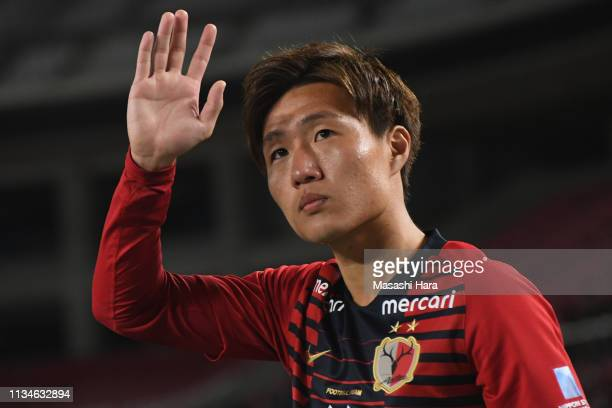 Kento Misao of Kashima Antlers looks on after the J.League J1 match between Kashima Antlers and Shonan Bellmare at Kashima Soccer Stadium on March...