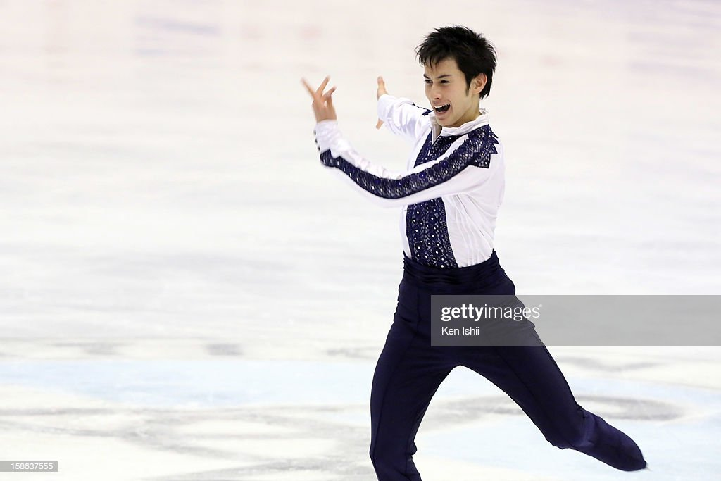 Kento Nakamura competes in the Men's Free Program during day two of the 81st Japan Figure Skating Championships at Makomanai Sekisui Heim Ice Arena on December 22, 2012 in Sapporo, Japan.
