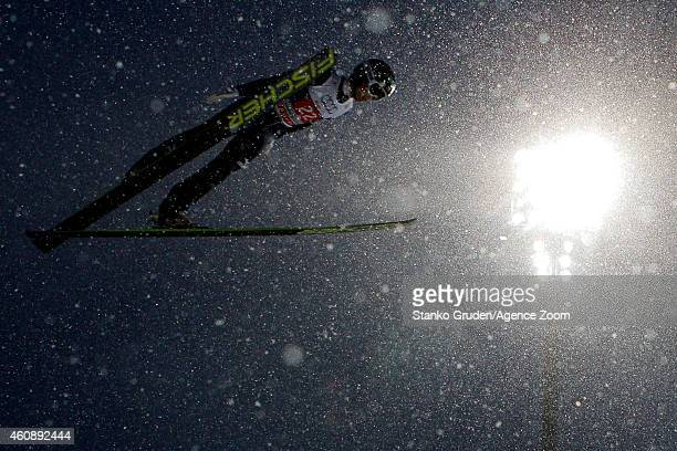 Kento Sakuyama of Japan during the FIS Ski Jumping World Cup Vierschanzentournee on December 29 2014 in Oberstdorf Germany