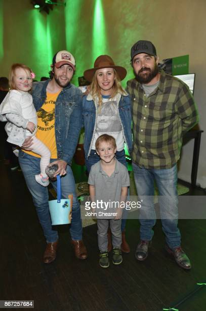 Kenton Bryant singer-songwriter, Jessi Alexander and singer-songwriter Johnathan Singleton attend the Xbox Halloween Gaming Event hosted by Brad...
