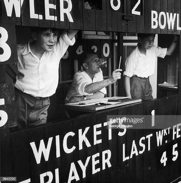 Kenton Cricket Club scoreboard Original Publication Picture Post 6098 Kenton Cricket Club unpub