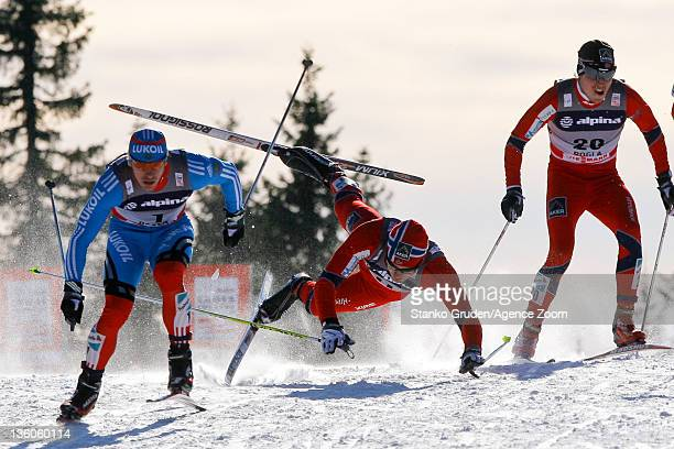 KentOve Clausen of Norway falls during the FIS Cross Country World Cup Men's Sprint on December 18 2011 in Rogla Slovenia