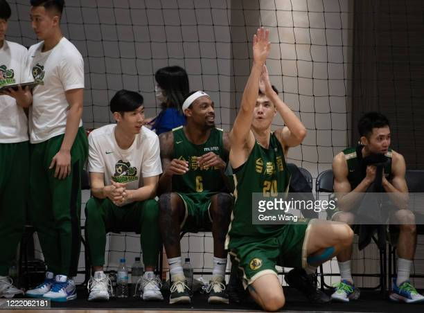 Kentrell Barkley of Taiwan beer at the court side during the SBL Finals Game Six between Taiwan Beer and Yulon Luxgen Dinos at Hao Yu Trainning...