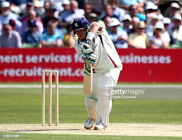 Kents Robert Key hits out during day two of the tour match between Kent and Australia at The Spitfire Ground St Lawrence on June 26 2015 in...