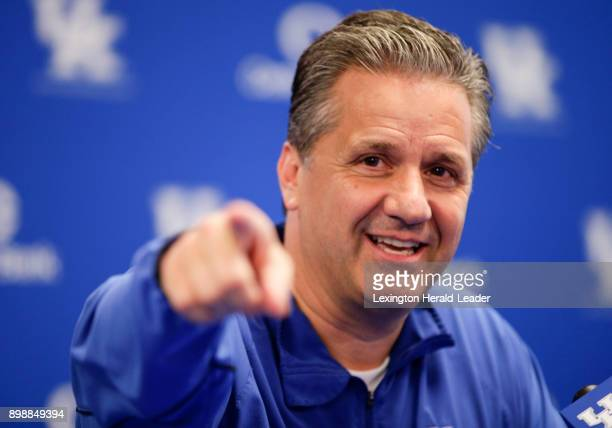 Kentucky basketball coach John Calipari during a news conference on May 11 in Lexington Ky