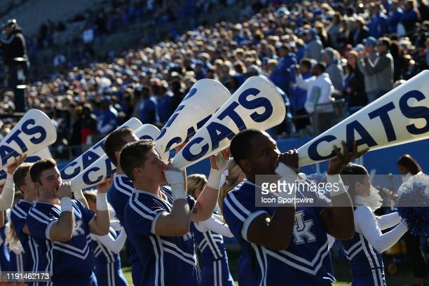 Kentucky cheer leaders during the Belk Bowl college football game between the Virginia Tech Hokies and the Kentucky Wildcats on December 31 at Bank...