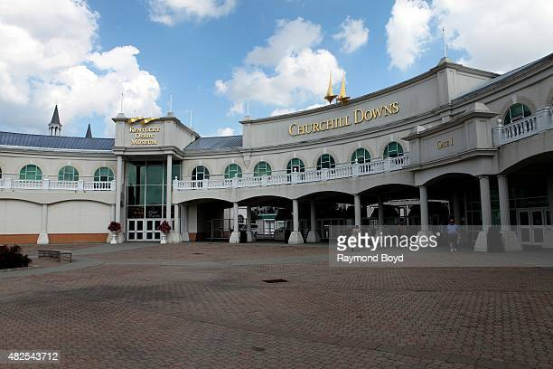 Kentucky Derby Museum and Churchill Downs home of The Kentucky Derby on July 19 2015 in Louisville Kentucky