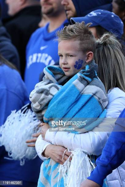 Kentucky fan during the Belk Bowl college football game between the Virginia Tech Hokies and the Kentucky Wildcats on December 31 at Bank of America...