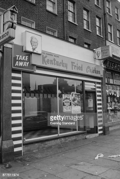 Kentucky Fried Chicken also know as KFC shop window London UK 25th October 1978