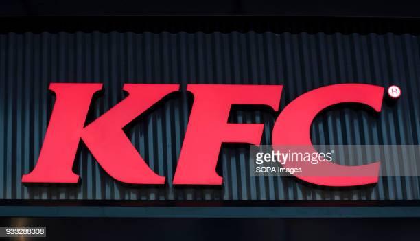 Kentucky Fried Chicken brand logo in Mong Kok Hong Kong