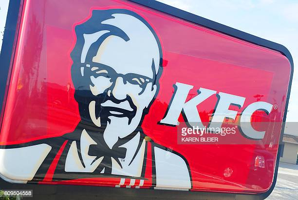 A Kentucky Fried Chicken restaurant is seen September 10 2016 in Gettysburg Pennsylvania / AFP / Karen BLEIER