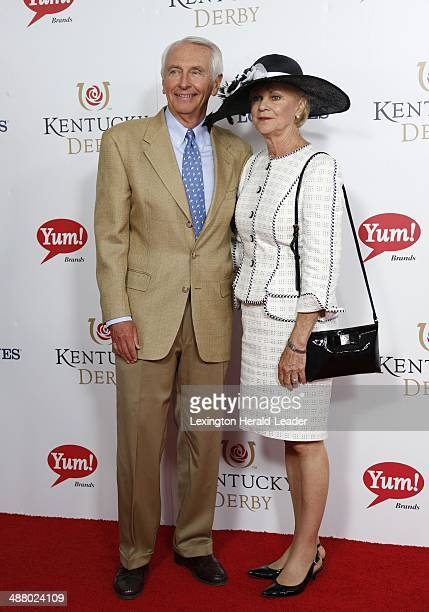 Kentucky Gov Steve Beshear and first lady Jane Beshear appear on the red carpet before the 140th running of the Kentucky Derby at Churchill Downs in...