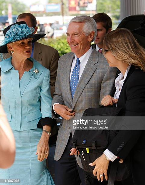 Kentucky Gov Steve Beshear and his wife Jane Beshear arrive at Churchill Downs for the 134th running of the Kentucky Derby in Louisville Kentucky...
