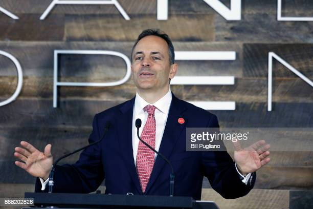 Kentucky Governor Matt Bevin speaks at the unveiling of a new $80 million Toyota engineering headquarters October 30 2017 in Georgetown Kentucky The...