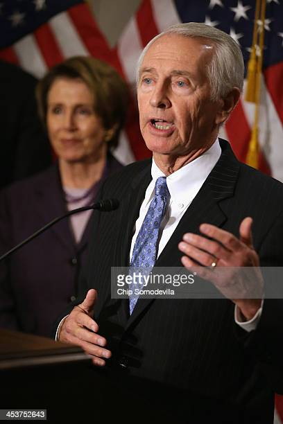Kentucky Governor Steve Beshear talks to reporters after attending a caucus meeting with House Minority Leader Nancy Pelosi and other leaders in the...