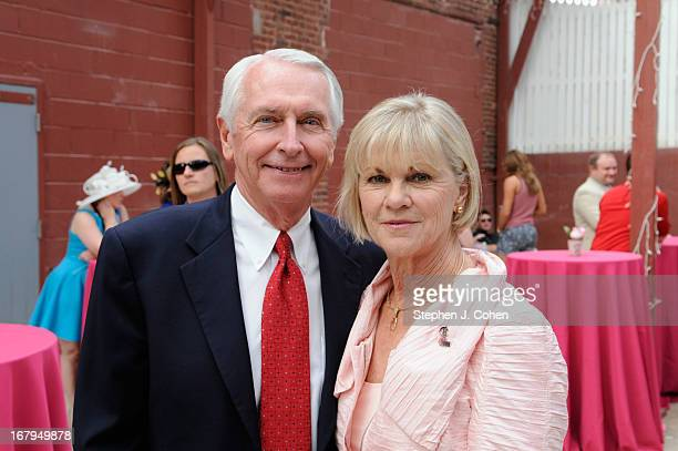 Kentucky Governor Steven Beshear Jane Beshear attends Kentucky Derby Festival Pegasus Parade staging area at Louisville Stoneware on May 2 2013 in...