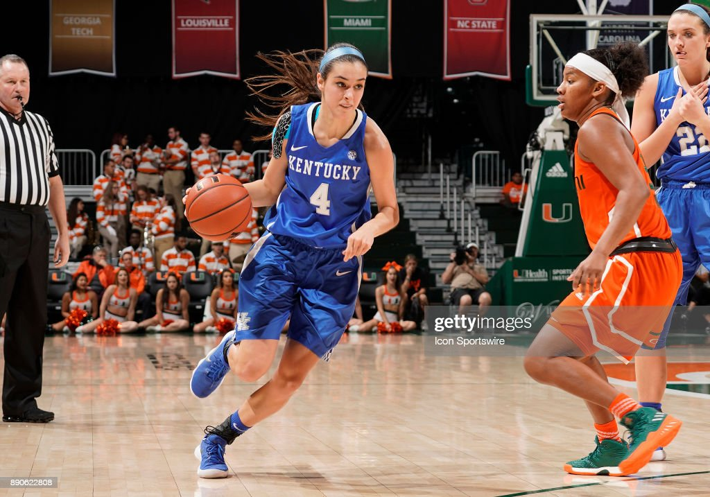 COLLEGE BASKETBALL: DEC 10 Women's - Kentucky at Miami : News Photo