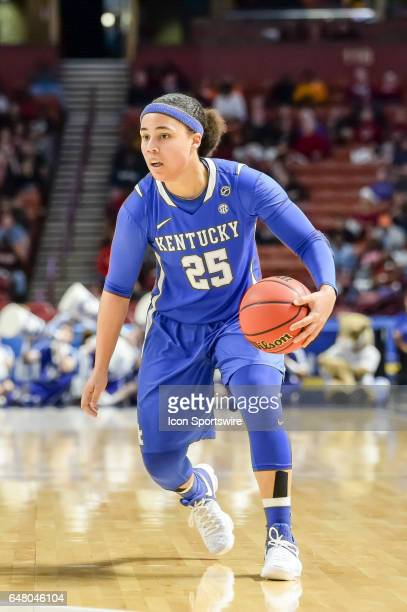Kentucky guard Makayla Epps during 1st half action in the SEC Women's Championship semi final game between the South Carolina Gamecocks and the...