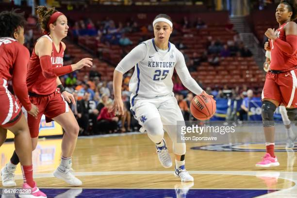Kentucky guard Makayla Epps during 2nd half action between the Alabama Crimson Tide and the Kentucky Wildcats on March 03 2017 at Bon Secours...