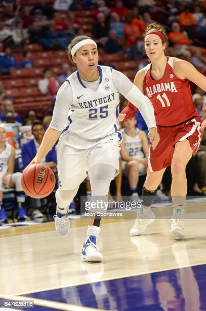 Kentucky guard Makayla Epps takes it to the basket during 2nd half action between the Alabama Crimson Tide and the Kentucky Wildcats on March 03 2017...