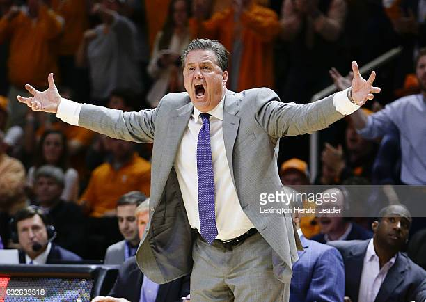 Kentucky head coach John Calipari could not believe an official's call in action against Tennessee at ThompsonBoling Arena in Knoxville Tenn on...