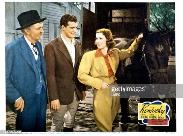Kentucky lobbycard from left Walter Brennan Richard Greene Loretta Young 1938