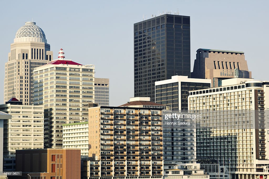 USA, Kentucky, Louisville, Morning skyline : Stock Photo