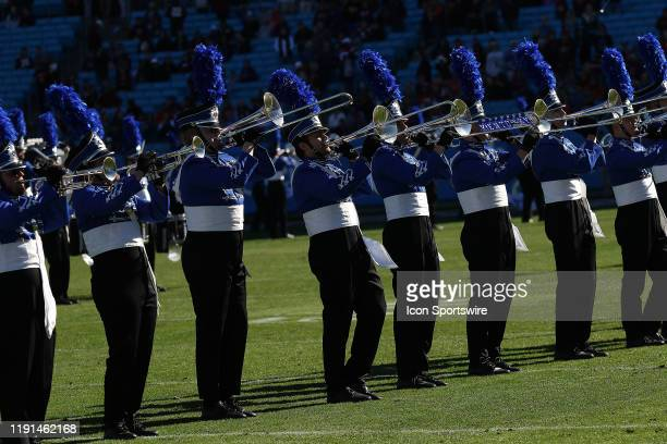 Kentucky marching band during the Belk Bowl college football game between the Virginia Tech Hokies and the Kentucky Wildcats on December 31 at Bank...