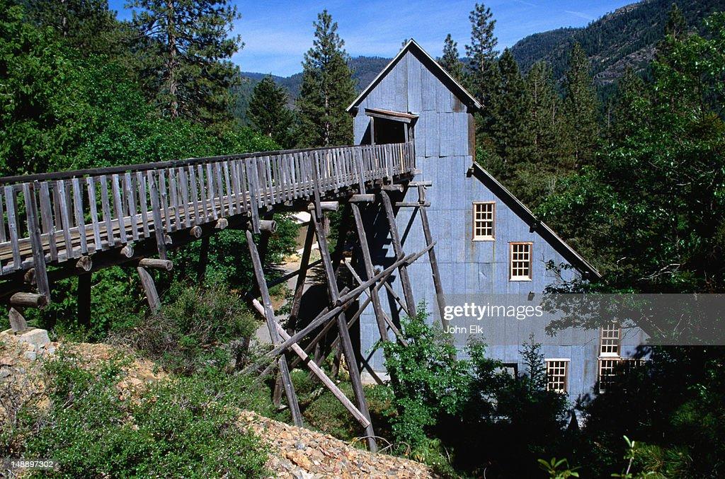 Kentucky Mine Stamp Mill, Sierra City Historic Museum. : Foto de stock