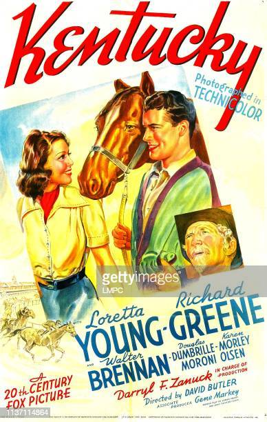 Kentucky poster US poster art from left Loretta Young Richard Greene Walter Brennan 1938