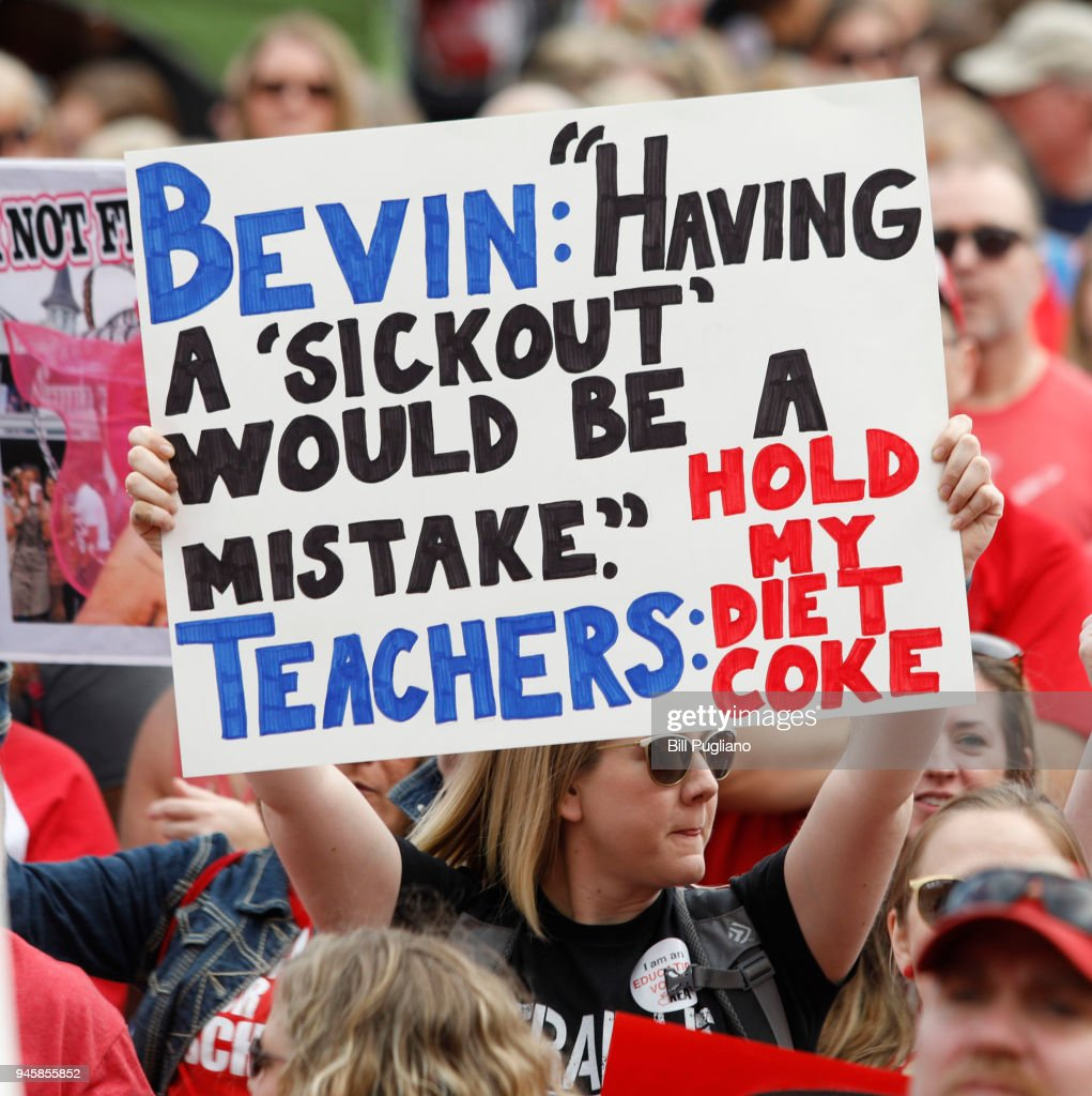 """Kentucky Public School Teachers Rally For A """"day Of Action"""