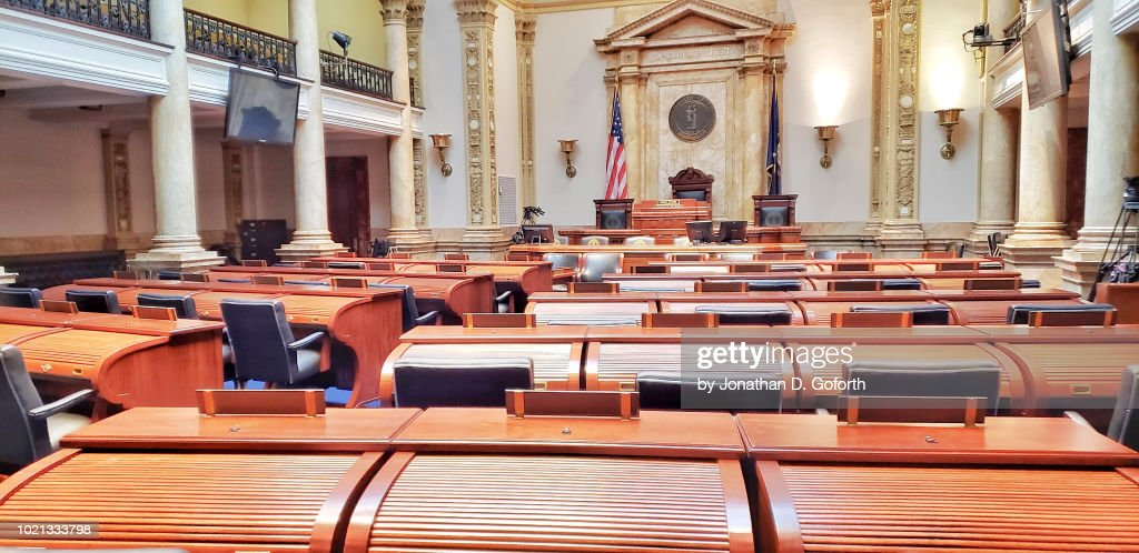 Kentucky State Capitol Senate Room : Stock Photo