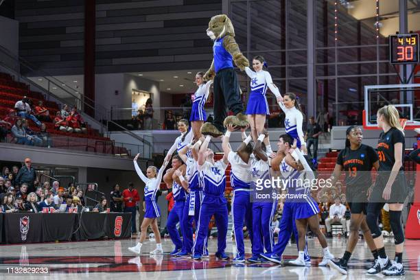 Kentucky Wildcats Cheerleaders during the 2019 Div 1 Women's Championship First Round college basketball game between the Princeton Tigers and the...
