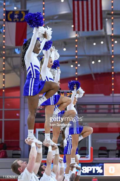 Kentucky Wildcats Cheerleaders perform during the 2019 Div 1 Women's Championship - First Round college basketball game between the Princeton Tigers...